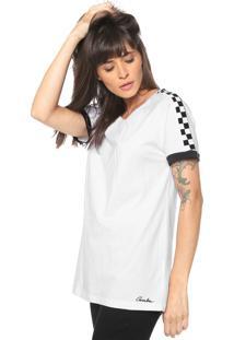 Camiseta Cavalera Tee Classic Raglan Quadriculada Branca