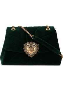 Dolce & Gabbana Bolsa Tiracolo Devotion Grande - Verde