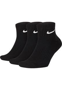 Meia Nike Cano Médio Everyday Cushion Pacote C/ 3 Pares - Masculino