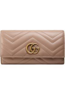 Gucci Carteira 'Gg Marmont' - Neutro