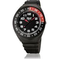 01af4c67b49 Relógio Pulso Everlast Com Pulseira Pu E3011 Masculino - Masculino -Preto+Vermelho