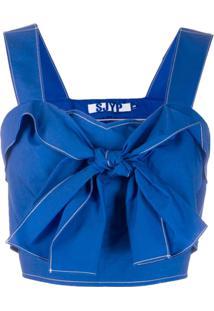 Sjyp Blusa Com Amarração - Azul
