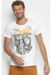 Camiseta Coca-Cola Estampada Sunset Masculina - Masculino-Branco