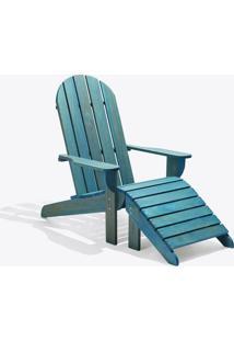 Cadeira Adirondack - Com Peseira Stain Azul
