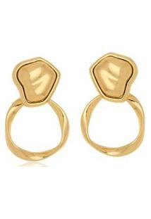 Brinco Le Diamond Forma Orgânica Dourado