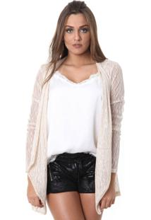 Cardigan Miss Joy Renda Dourado