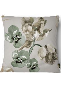 Capa Para Almofada 43X43Cm Silk Home 015 - Belchior - Bege / Verde