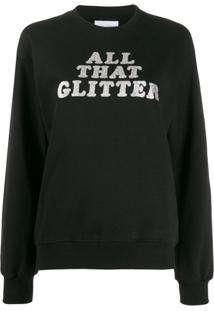 Chiara Ferragni All That Glitter Print Sweatshirt - Preto