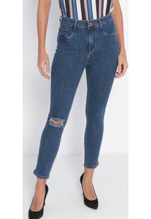 Jeans Super High Ankle Com Bolso- Azul- Lança Perfumlança Perfume
