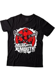 Camiseta Blitzart Deadpool Merc With A Mouth