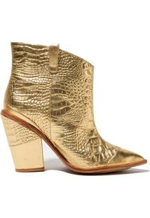 Bota Rosa Chá Golden Cowboy Dourada (Dourado, 34)