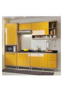 Cozinha Completa Multimóveis Com 6 Peças Sicília 5809 Argila/Amarelo