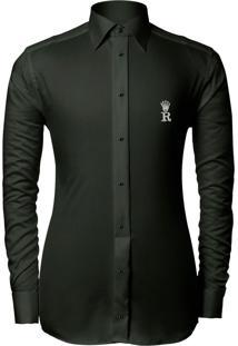 Camisa Joss Lisa Slim Verde Militar