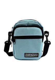 Mini Bolsa Azul Celeste Shoulder Bag Com Bolso Transversal Pochete Celular Feminina Espaçosa Lançamento Your Face
