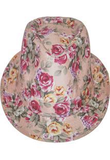 Chapéu Real Arte Florido Rosê