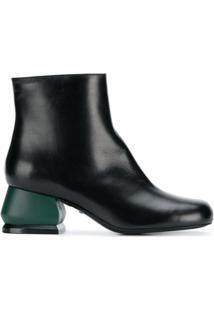Marni Ankle Boot 'Edy' De Couro - Preto