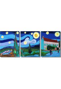 Quadro Painel Decorativo Releitura Quadros De Van Gogh A Mão