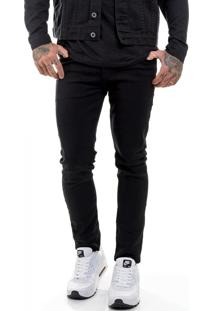 Calça Jeans Premium Skinny Preta Offert