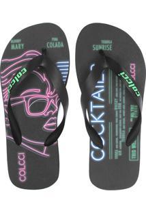 Chinelo Colcci Neon Grafite