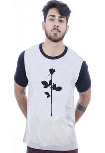Camiseta Hardivision Silence Manga Curta - Masculino-Cinza+Preto