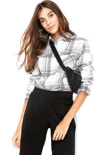 Camisa Fiveblu Xadrez Cinza/Branco