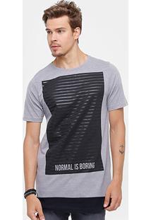 Camiseta Side Way Estampada Long Masculina - Masculino