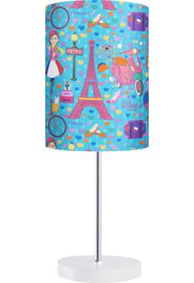 Abajur Voyage A Paris Carambola Quarto Menina Azul