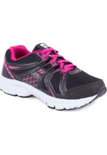 Tênis Running - Junior Sapequinha - Feminino-Preto+Pink