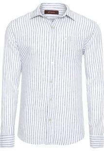 Camisa Masculina Frankie Linho Livorno - Branco
