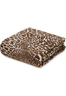 Kit De Colcha Com Porta Travesseiros Queen Andrezza Bege/Marrom