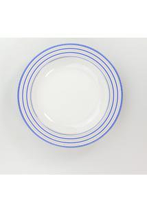 Conjunto De Pratos Fundos Porcelana Schmidt 06 Peças - Dec. Paula