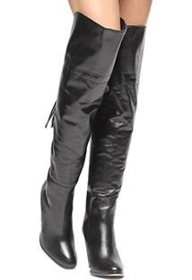 Bota Over The Knee Shoestock Barbicachos Feminina - Feminino-Preto