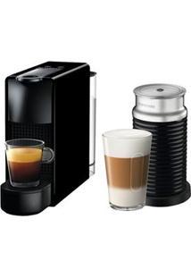 Cafeteira Nespresso Essenza Mini C30 Preto - 110V + Aeroccino 3