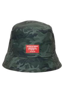 Chapéu Masculino Bucket Military Full Print Branded - Verde