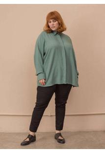 Camisa Milena Plus Size Verde-48/50 Verde