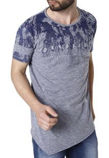Camiseta Manga Curta Gangster Azul