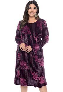 74d93fe12 Dafiti. Vestido Marie Plus Size Devorê Floral Violeta