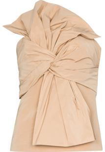 Givenchy Blusa Com Bustier E Laço Frontal - Neutro