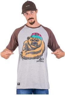 Camiseta Alfa Raglan Bear - Masculino