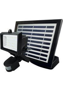 Refletor Taschibra Prime 02 Led Solar Com Sensor 6500K Preto