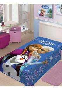 Cobertor Solteiro Jolitex Raschel Disney Azul Claro