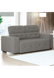 Sofá Com 3 Lugares Blanc – Linoforte Moveis - Cinza