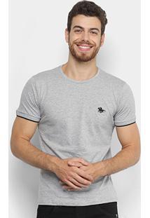 Camiseta Rg 518 Malha Bordado Frisos Masculina - Masculino