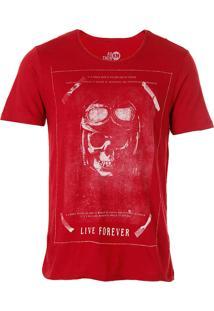 Camiseta Live Forever Masculina Km - Vinho