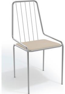 Cadeira Benim Cromada De Metal Nude Kappesberg