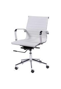 Cadeira Office Eames Esteirinha Baixa Giratória Branco Or Design