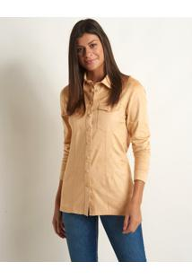 Camisa Le Lis Blanc Mel New Suede Sisal Bege Feminina (Sisal, 34)
