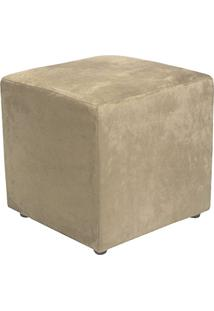 Puff Quadrado Decorativo Suede Bege - Lymdecor