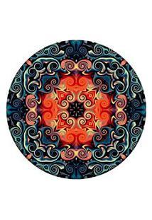 Tapete Love Decor Redondo Wevans Mosaic Oriental Multicolorido 84Cm