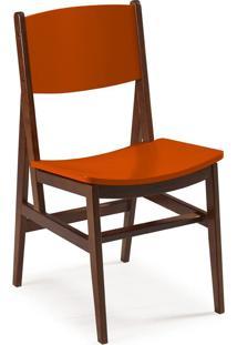 Cadeira Dumon 87 Cm 951 Cacau/Laranja Novo - Maxima